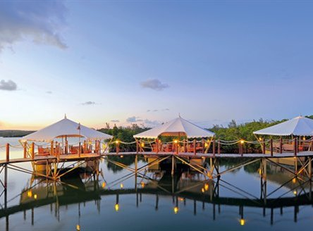 Le Barachois floating restaurant at Constance Le Prince Maurice