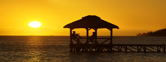 Choose the west coast for fabulous sunsets on your Mauritius holiday