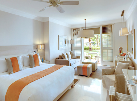 LUX* Belle Mare has luxury rooms and suites