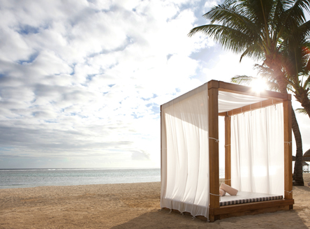 Cabana on the beach at Outrigger Mauritius