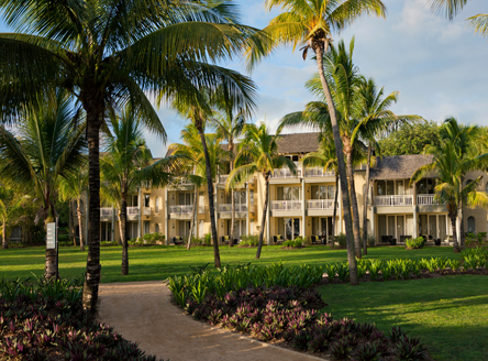 Beautiful grounds of 5* Outrigger Mauritius