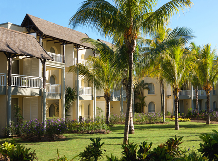 Low-rise designed rooms at Outrigger Mauritius