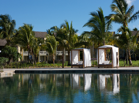 One of the four pools at Outrigger Mauritius
