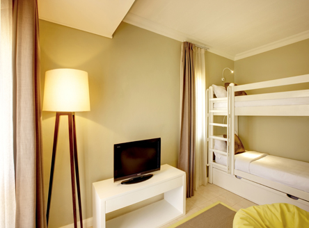 Children's room in Deluxe Family Seaview Room at Outrigger Mauritius