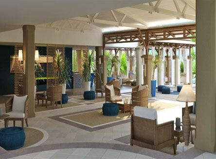 Paradise Cove Hotel new refurbished lobby area