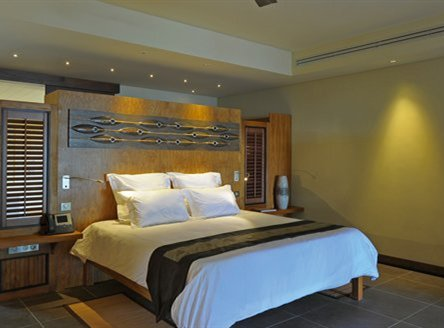 Luxury room interiors at Trou aux Biches