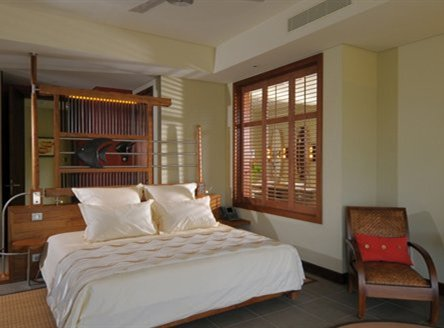 Spacious room interiors at Trou aux Biches hotel