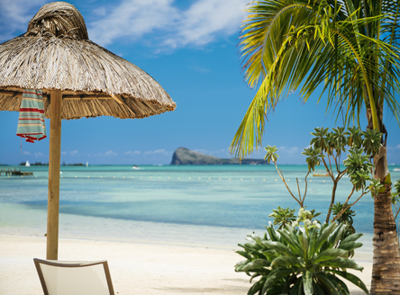 Relaxing beach atmosphere at Zilwa Attitude Mauritius